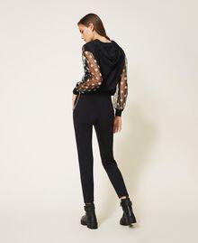 Pantalón con bordado de cuentas Negro Mujer 202TT2T52-04