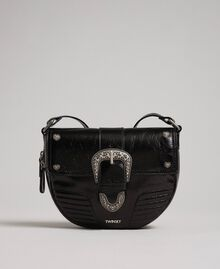 Borsa a tracolla Rebel in pelle con fibbia décor Nero Donna 192TO823C-04
