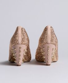 "Suede rhinestone-clad court shoes ""Pale Pink"" Woman CA8TLC-04"