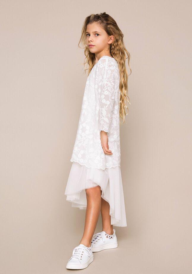 Robe avec jupe en tulle et tunique