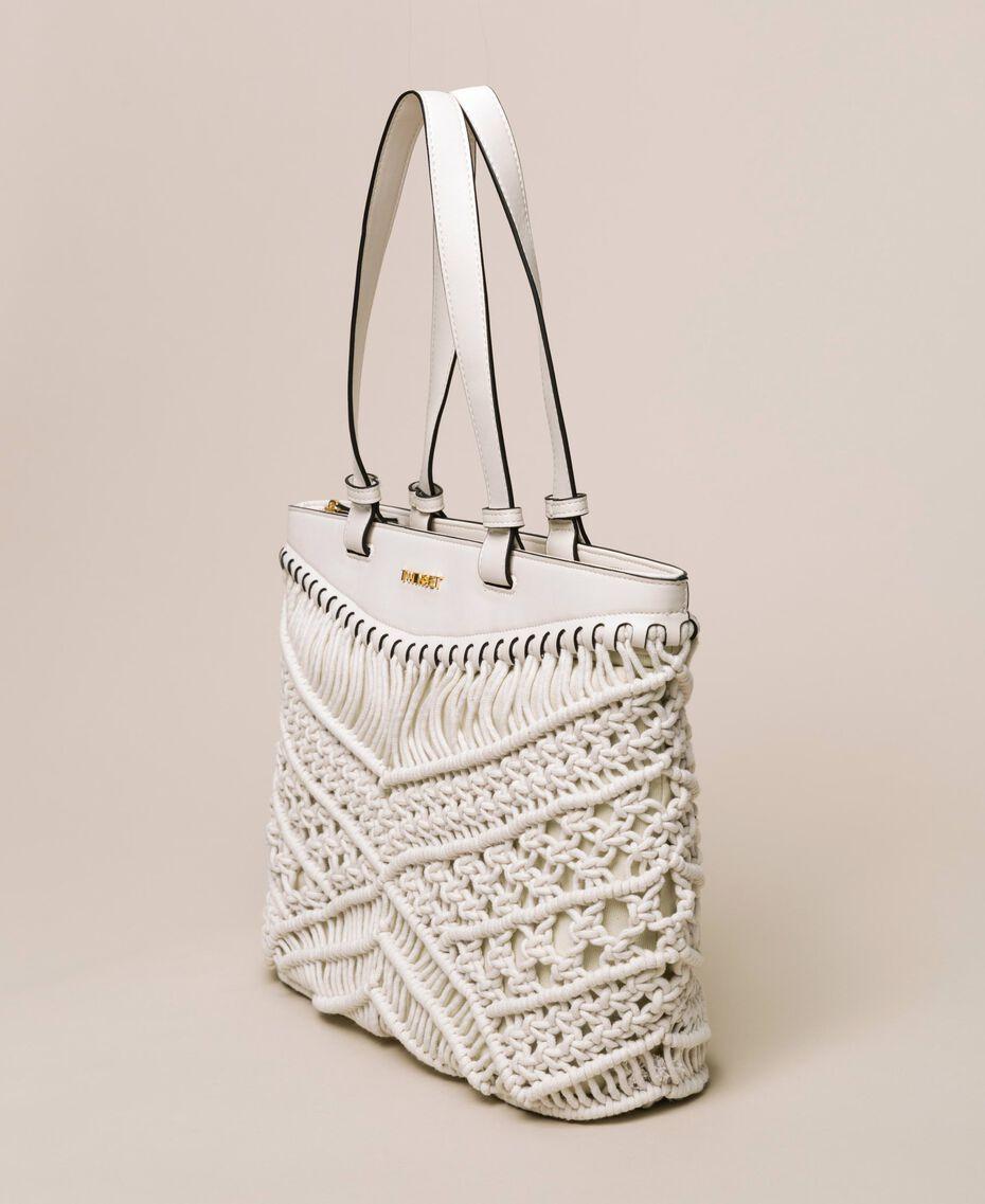 Crochet shopper Antique White Woman 201TO8130-02