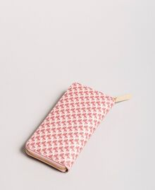 Printed wallet with all-over butterflies Pearl Pink Butterflies Print Woman 191TA7177-04