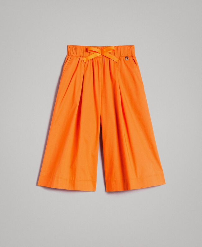 "Stretch-Hosenrock aus Popeline ""Summer Orange"" Kind 191GJ2410-01"