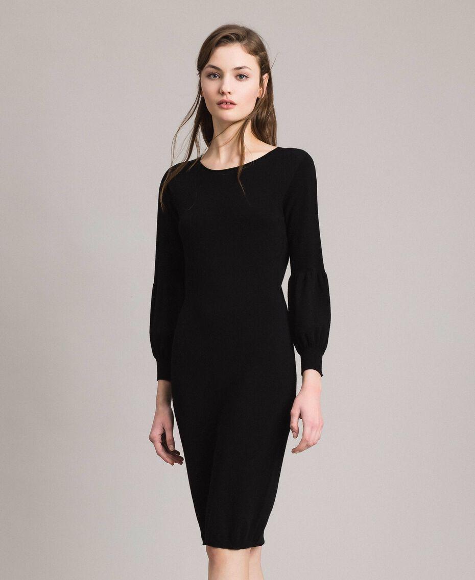 Robe fourreau avec fentes Noir Femme 191TP3291-02
