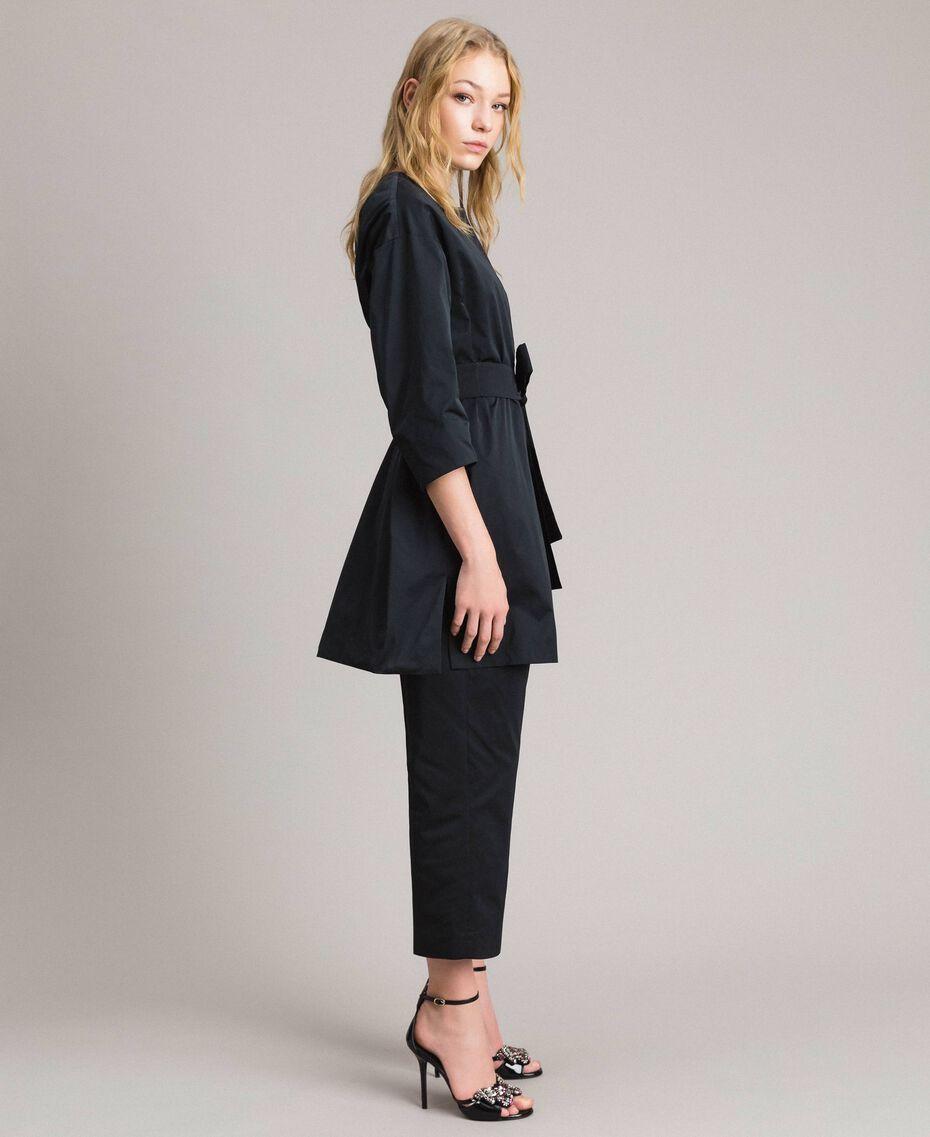 Manteau cache-poussière en taffetas Noir Femme 191TP2655-02