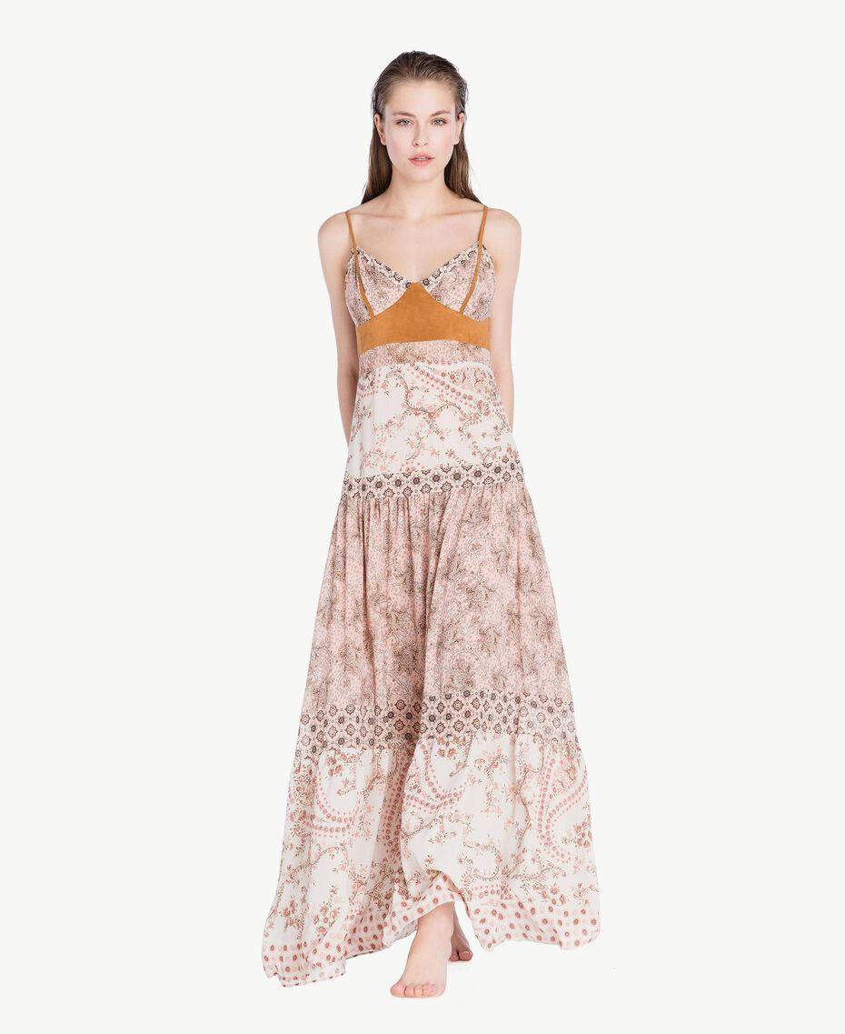 Robe longue imprimé Imprimé Patch Rose Vegas Femme BS8AMM-02