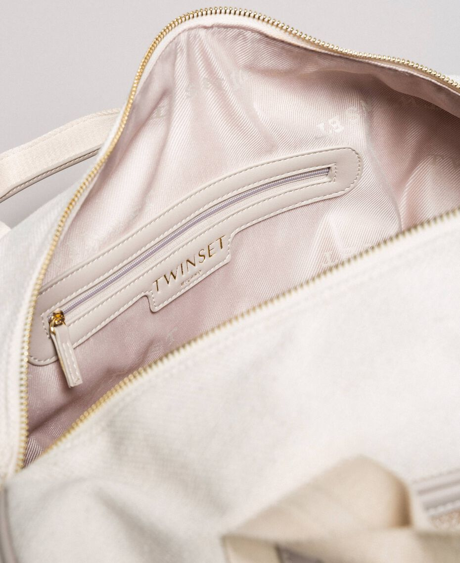 "Canvas and mesh travel bag ""Milkway"" Beige Woman 191LL49DD-05"