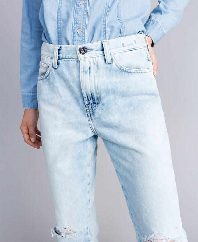 Jean en denim modèle Eighties Bleu Denim Femme JA82QZ-04