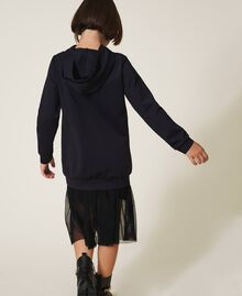 Scuba maxi sweatshirt with heart Black Child 202GJ2701-04