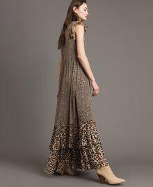 Robe longue en georgette à imprimé animalier Imprimé Animalier Mixte Femme 191TP2724-03