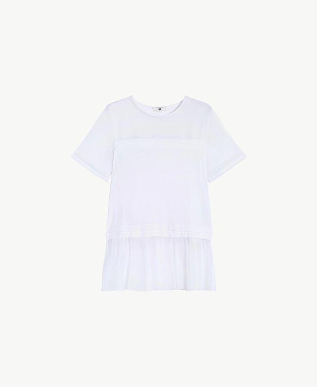 Maxi tulle T-shirt White Woman BS82TT-01