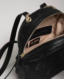 Heart print faux leather backpack Black Woman 192MA7012-04