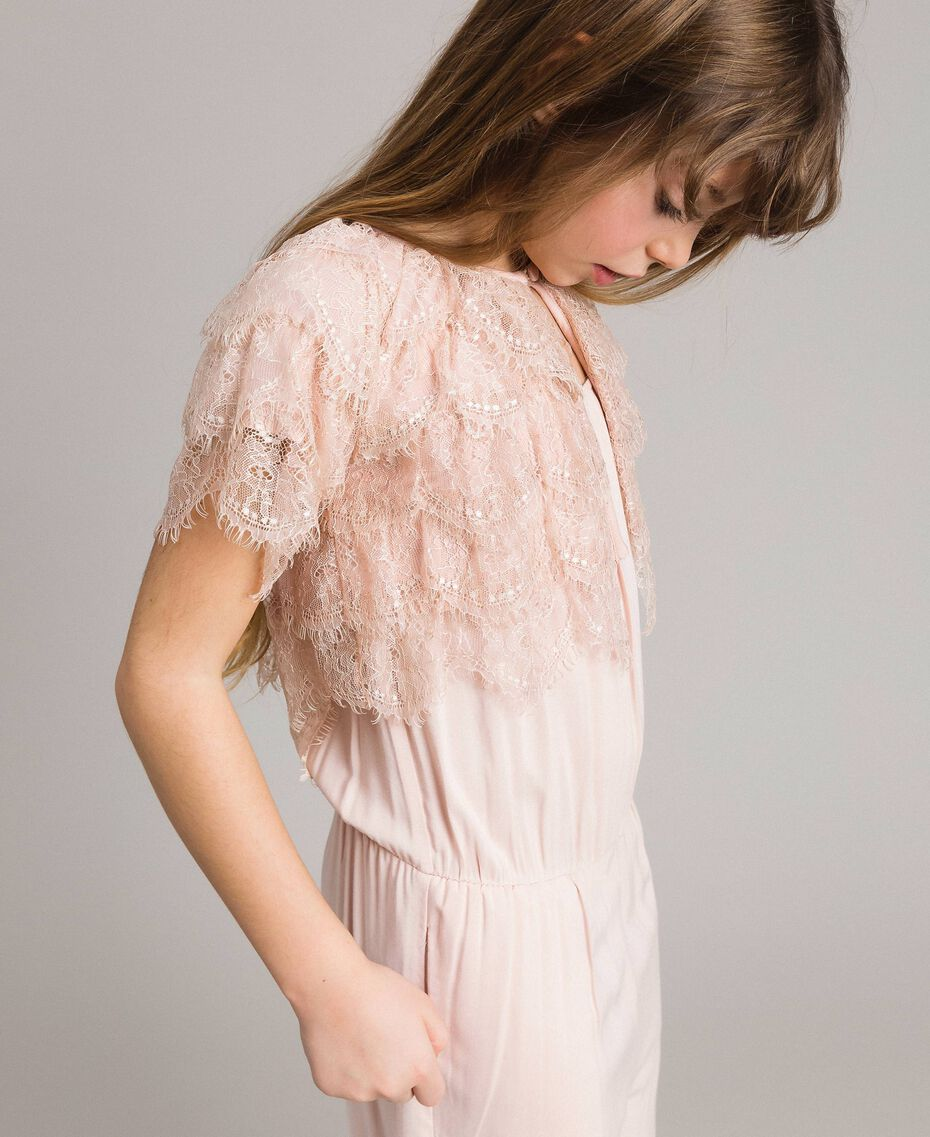 Shrug mit Spitze Blütenrosa Kind 191GJ2Q92-02