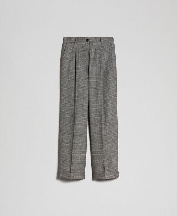 Pantalon ample en Prince de Galles