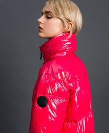 Steppmantel in Lackoptik Pink Gloss Frau 192MT2071-06