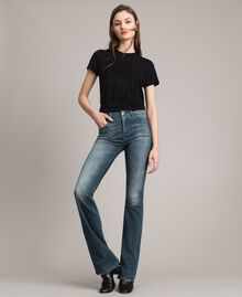 Jeans bell bottom effetto sfumato Denim Blue Donna 191MP2475-01