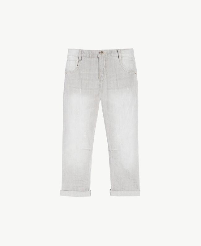 Slouchy jeans Light Grey Denim Child GS82FP-01