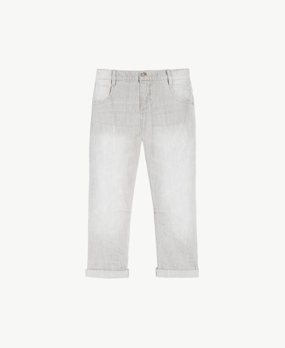 Slouchy jeans Light Grey Denim Child GS82FP-01