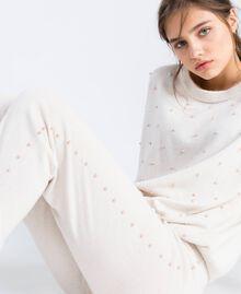 Wool blend jogging trousers Blanc Woman IA8ALL-04