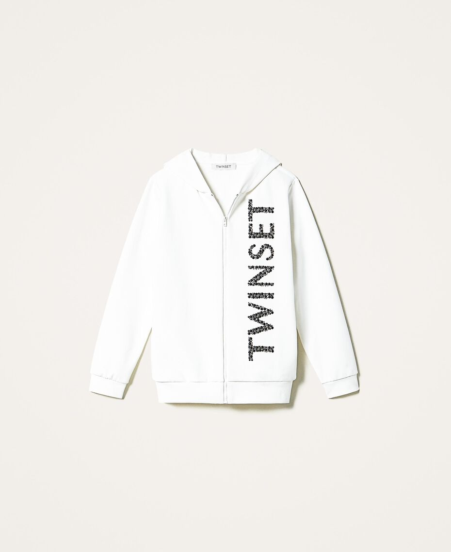 Maxi scuba sweatshirt with embroidery Off White Child 202GJ2700-0S