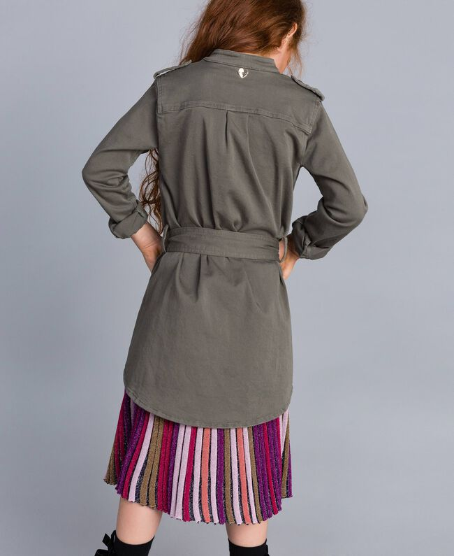 Cotton shirt dress with star Olive Child GA827R-03