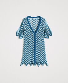 Knitted lurex cardigan Antigua Blue Woman 191LM3KAA-0S