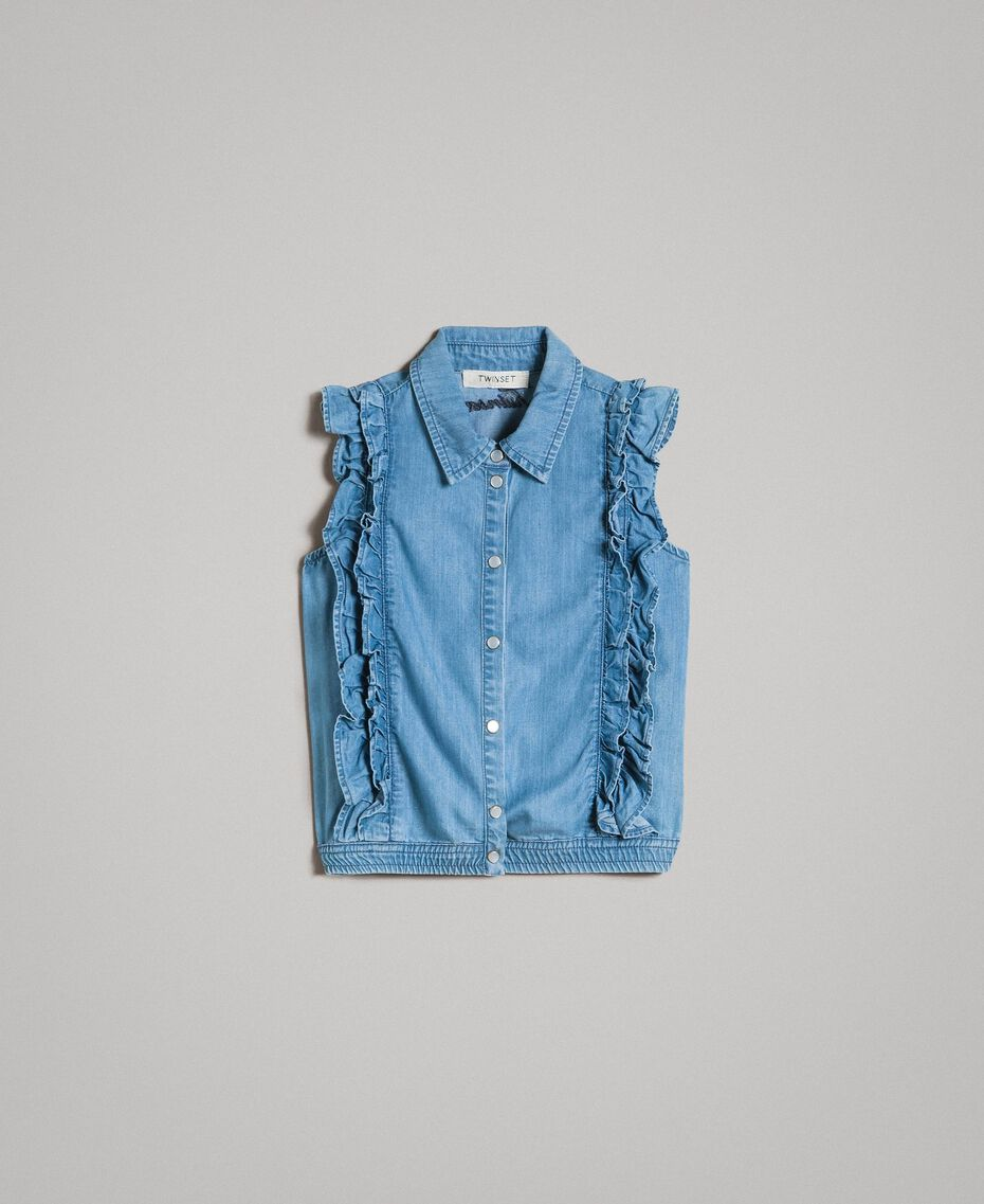Top en denim souple Jean Doux Enfant 191GJ2561-01