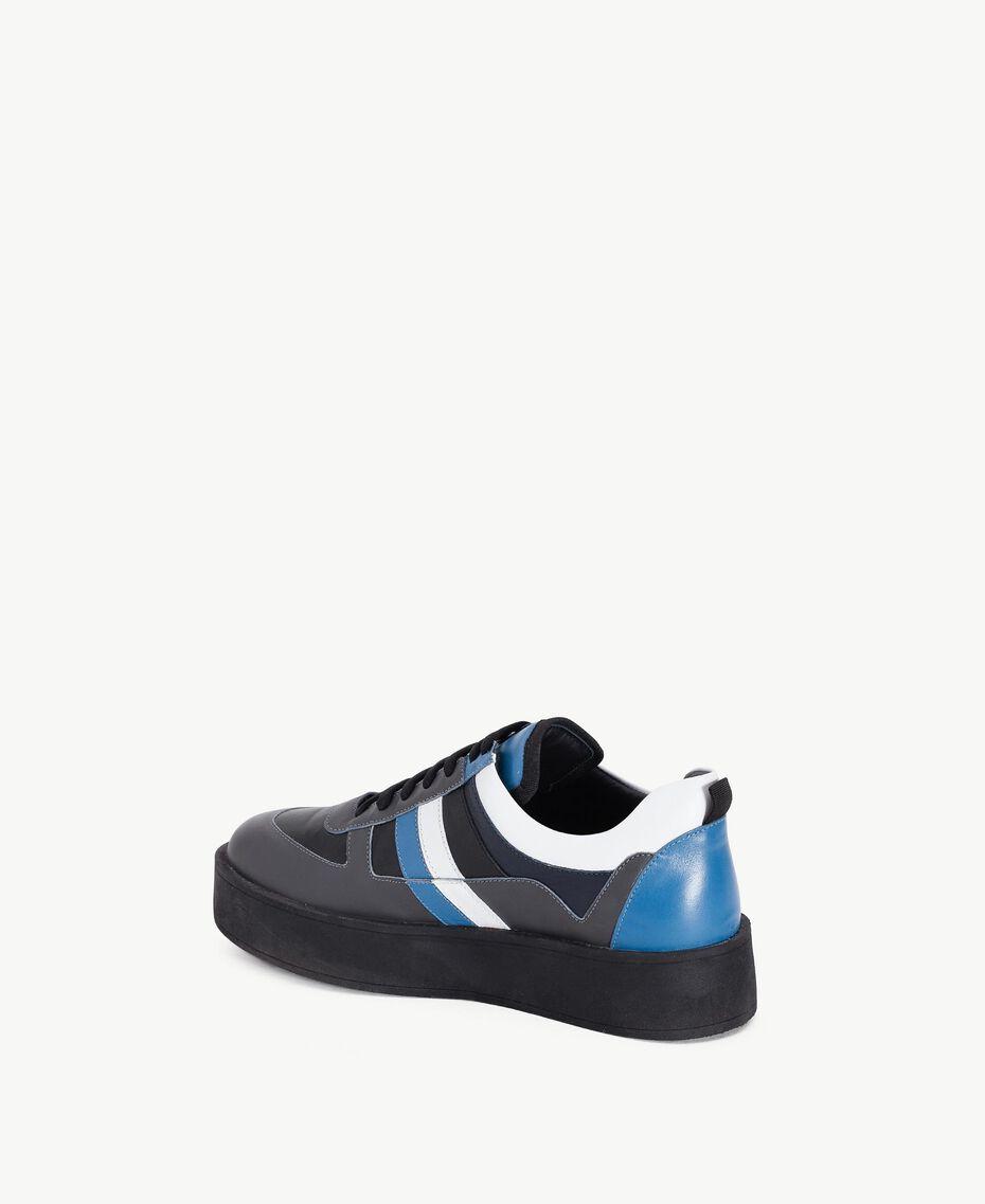 """TWINSET Sneaker color block Grigio / Azzurro """"Anice"""" CA7TJ5-03"""