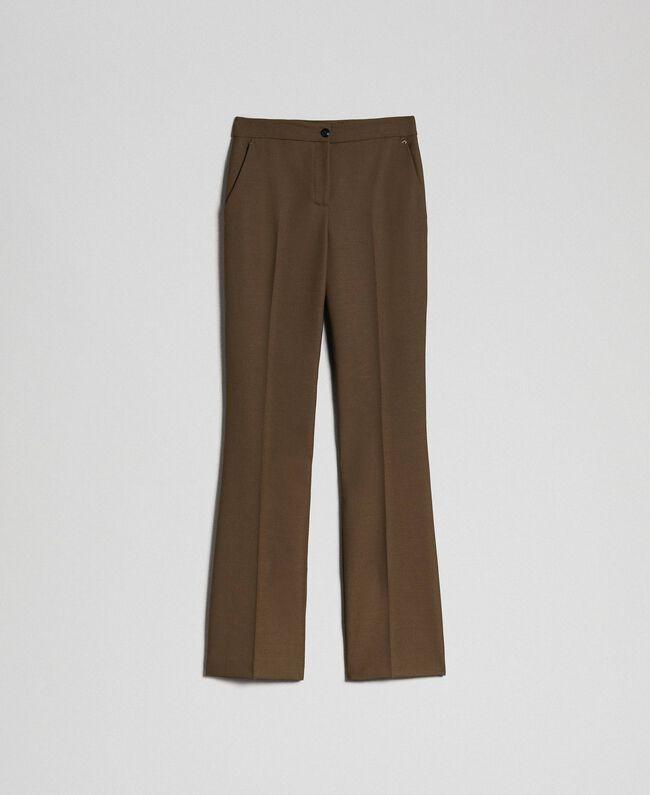 "Technical wool trousers ""Colonial"" Green Woman 192TT2450-0S"