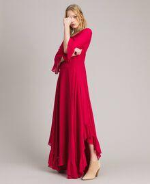 """Robe longue de georgette Fuchsia """"Anémone"""" Femme 191TP2123-02"""
