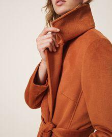Abrigo largo de paño Rojo Terracota Mujer 202LI2CAA-05
