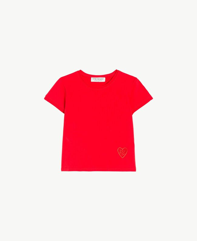 Jersey t-shirt Pomegranate Red Child GS82BA-01