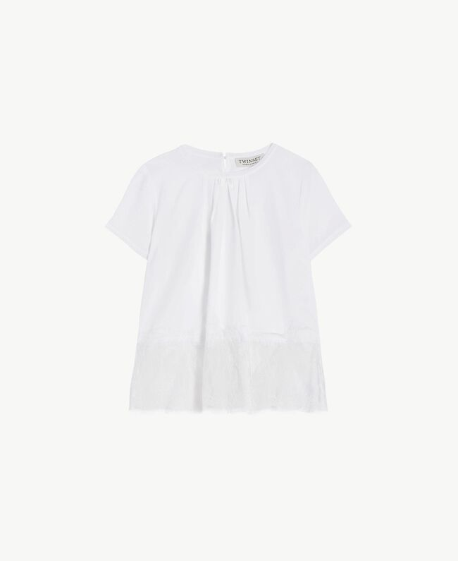 "Lace blouse ""Papers"" White Child GS82ED-01"