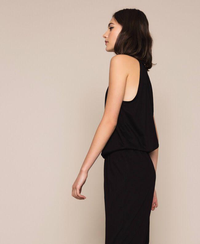 Jumpsuit with sequins Black Woman 201LB2CHH-04