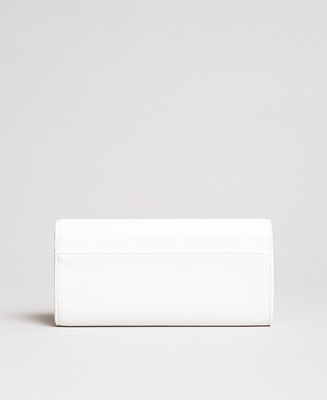 Portefeuille en similicuir avec clous Crème White Femme 191MA7144-03