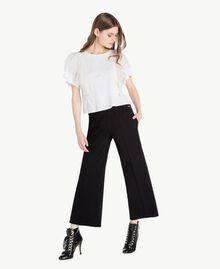 Flounced T-shirt White Woman PS82UB-05