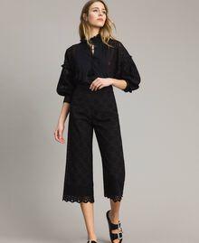 Pantalon en broderie anglaise Blanc Neige Femme 191TT2045-02