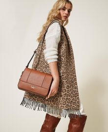 Shoulder bag with straps Leather Brown Woman 202MA7043-0S