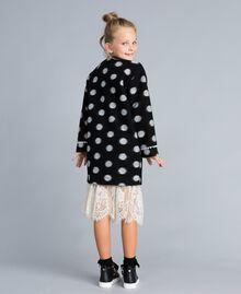Manteau en drap à pois Imprimé Pois Noir / Blanc Cassé Enfant GA82CG-03