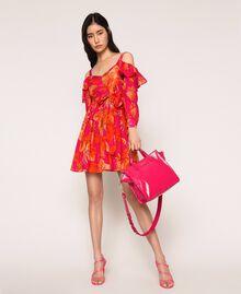 "Borsa shopper media in pelle con logo Rosa ""Jazz"" Donna 201TO8091-0S"
