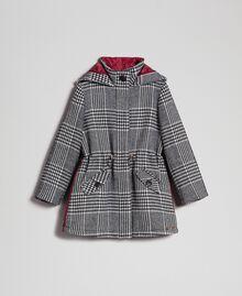Parka en laine mélangée pied-de-poule Pied de Poule Blanc / Noir Enfant 192GJ2110-0S
