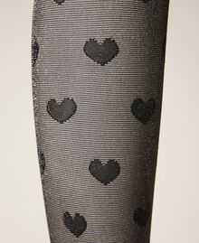 Tights with heart motif all over Black Woman 202TO514B-03