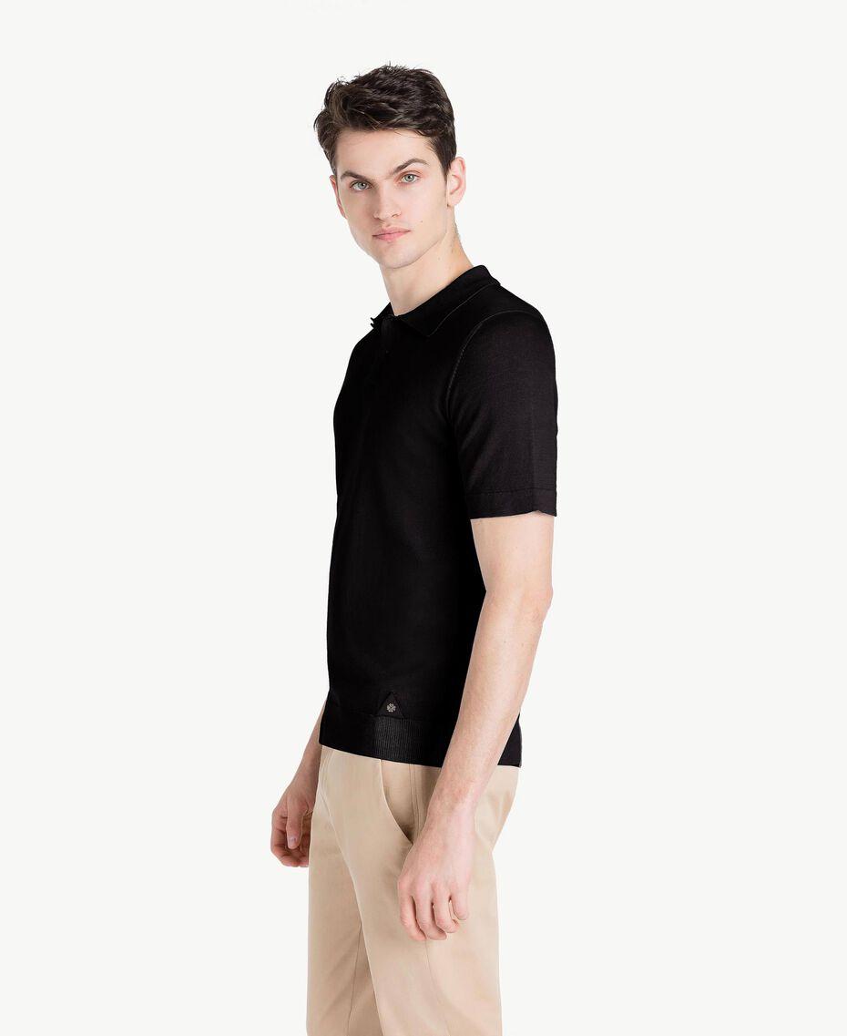 Pullover aus Baumwolle und Kaschmir Schwarz Mann US831C-02