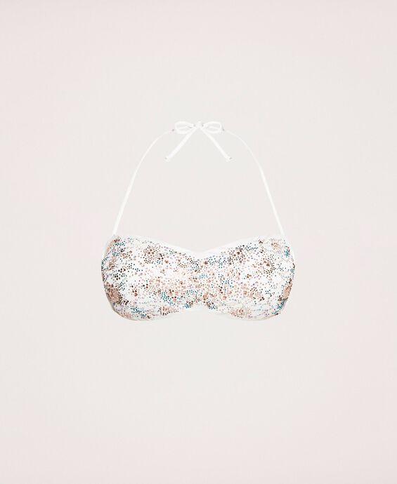 Bandeau bikini top with rhinestones