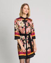 Hemdblusenkleid mit floralem Foulardprint Platzierter Foulardprint Frau 192TP2601-02