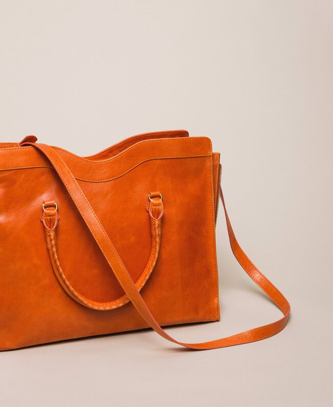 "Rebel leather shopper with pocket ""Jasper"" Red Woman 999TA7235-04"