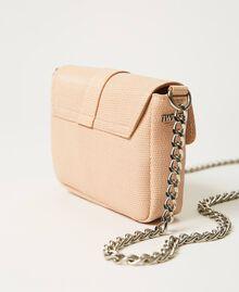 "Small Rebel shoulder bag with jewel buckle ""Nude"" Beige Woman 202TB7140-04"