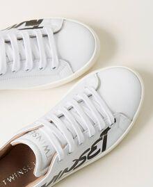 Sneakers aus Leder mit Logo Mattweiß Kind 211GCJ050-04