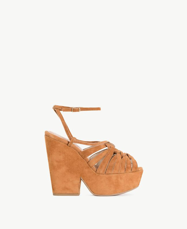 TWINSET Suede sandals Leather Brown Woman CS8TCA-01