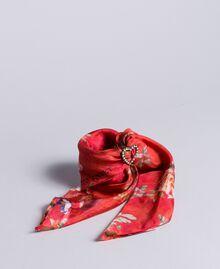 Foulard en soie avec imprimé floral Imprimé Jardin Rouge Femme AA8P14-01